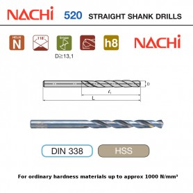 NACHI HSS Straight Shank Drills