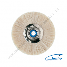 Hatho Wheel Brush Art. 100 48 White soft goat hair