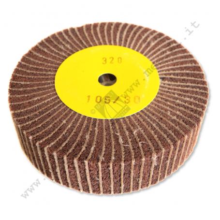 Spazzola Lamellare Tela + Scotch brite mm 100 x 30 - g. 320