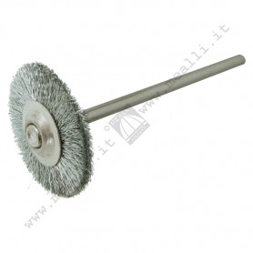 Wheel Brush crimped steel wire Ø 19 mm