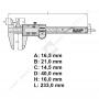 Calibro Mitutoyo 500-181-30 mm 150