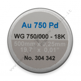 Welding wire for white gold AU 750 PD