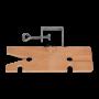 Stocco in legno con morsetto